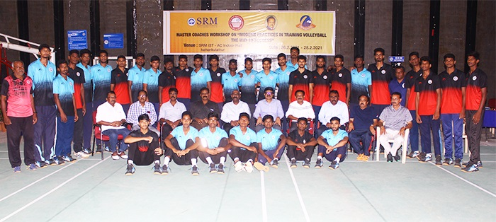 65 coaches attend 'Modern Practices in Training Volleyball' in SRMIST