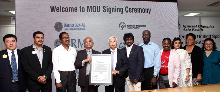 SRM Institute of Science and Technology (formerly known as SRM University) signed MOU with Special Olympics Asia Pacific