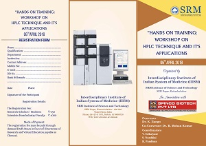 Hands on Training - Workshop on HPLC Technique and It's Applications