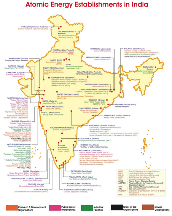Best Nuclear Engineering College In India SRM University - Nuclear plants in india map