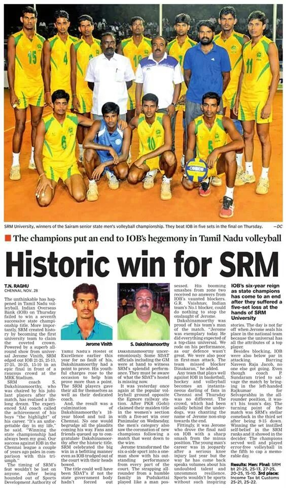Historic win for SRM