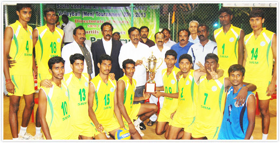 South Zone Inter University Volleyball Men 2012-13