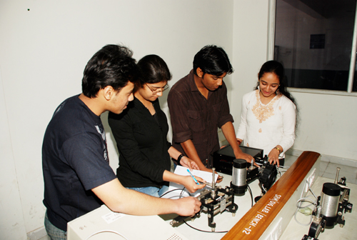 SRM University Students Working in Elecrical Lab